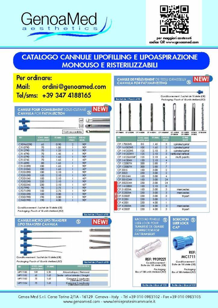cannule monouso per liposuzione